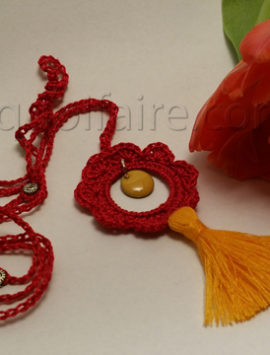 collier rouge-orange