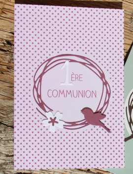 carte communion fille