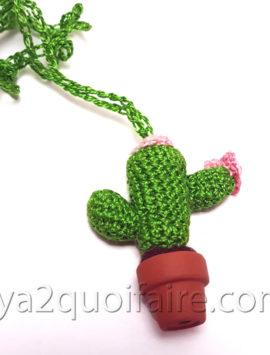 cactus collier crochet 1