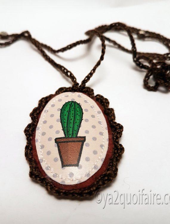 collier cactus brun 1