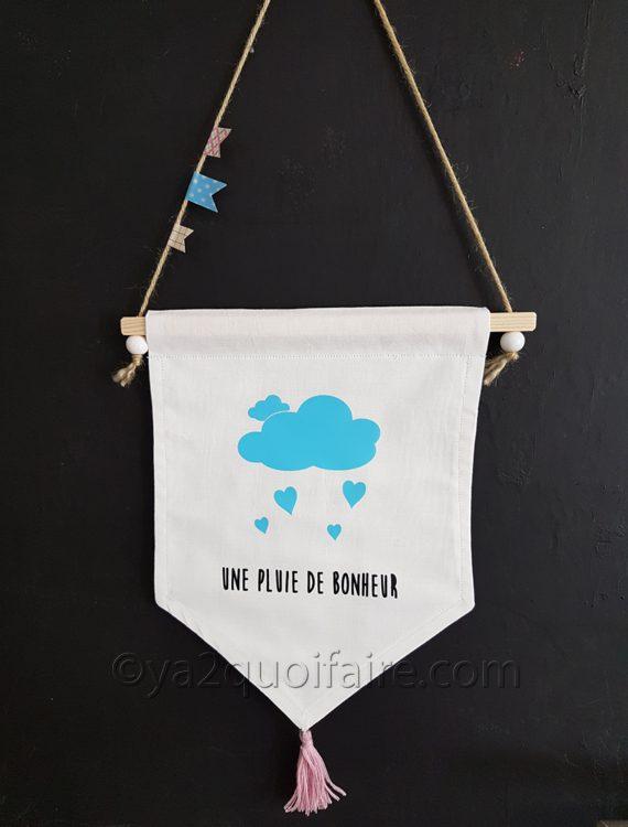fanion pluie de bonheur